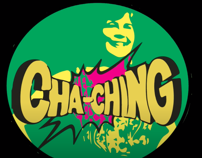 A picture of lead instructor Leslie Rosenberg overlaid with the word Cha-Ching
